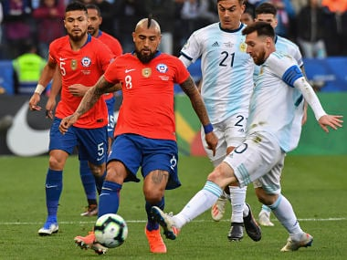 Copa America 2019: Lionel Messi shown red card as Argentina beat Chile 2-1 to finish third in tournament