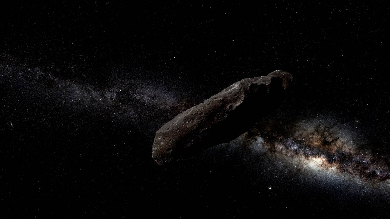 Artist impression of the space object Oumuamua. Image credit: Wikimedia Commons