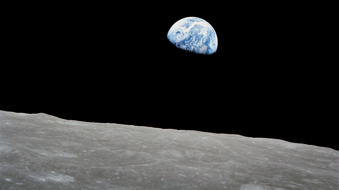 The Earth rise as seen from the Apollo 8. Image credit: NASA