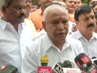 Yediyurappa swearing-in Karnataka CM Updates: BJP leader takes oath as chief minister for the fourth time