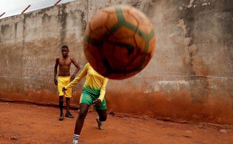 Cameroon's soccer sensation Gaelle Enganamouit was the brainchild behind setting up this academy for female soccer players. Girls from impoverished backgrounds are provided with professional training, jerseys, training equipment and a physiotherapist to train them in the sport. Reuters/ Zohra Bensemra