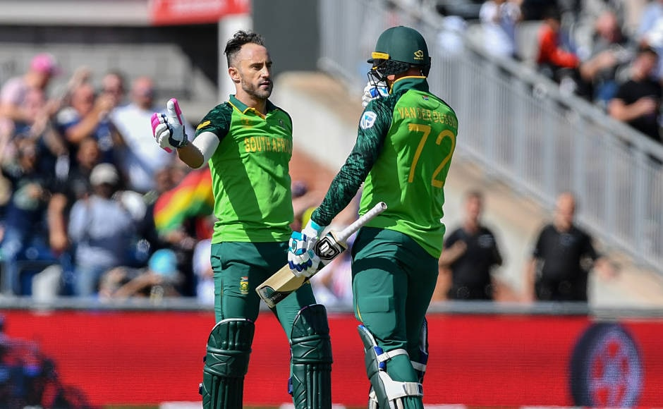 South Africa's captain Faf du Plessis laid the foundation of the win for Proteas by scoring a gritty hundred. Rassie van der dussen played well for his 97-ball 95 to guide the team home to 325/6. AFP