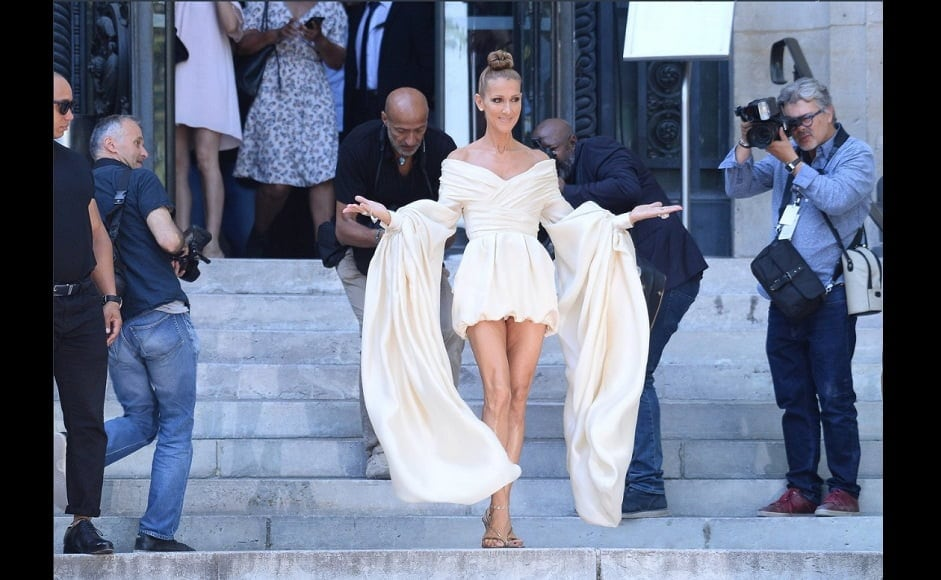 Singer Celine Dion attends the Alexandre Vauthier Haute Couture Fall/Winter 2019-2020 show as part of Paris Fashion Week   Twitter- @UnaiQuijada