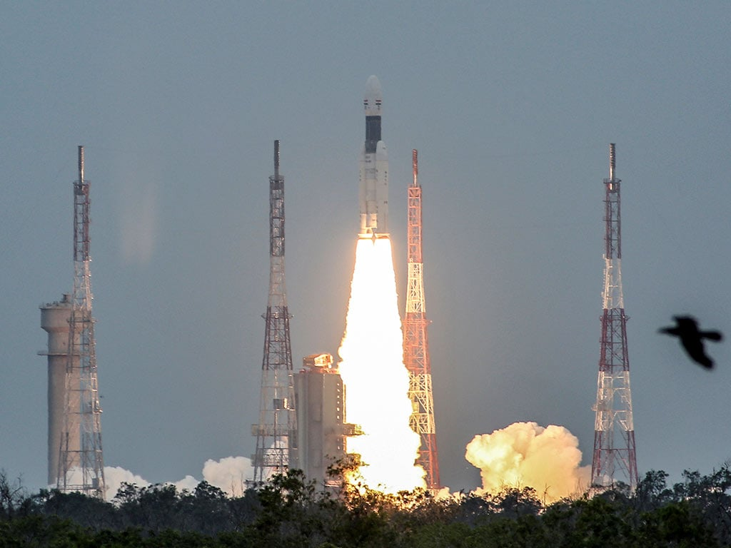 The Chandrayaan 2 mission has successfully lifted off aboard the GSLV Mk III rocket. Image: Reuters
