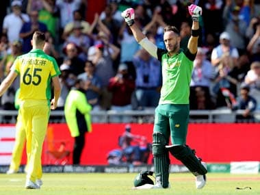 ICC Cricket World Cup 2019: Faf du Plessis says five-time champions Australia's confidence is akin to an 'extra player'