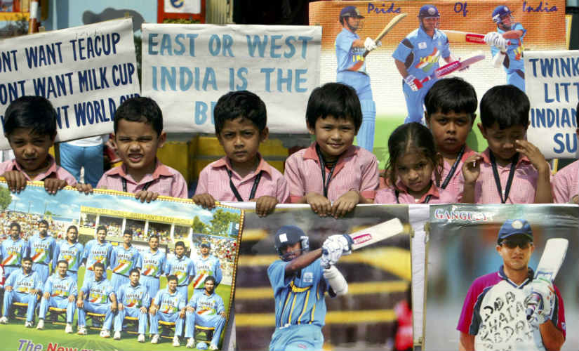 Children cheer for the Indian cricket team during the 2007 World Cup. Have you seen a more selfless category of sports fans yet?