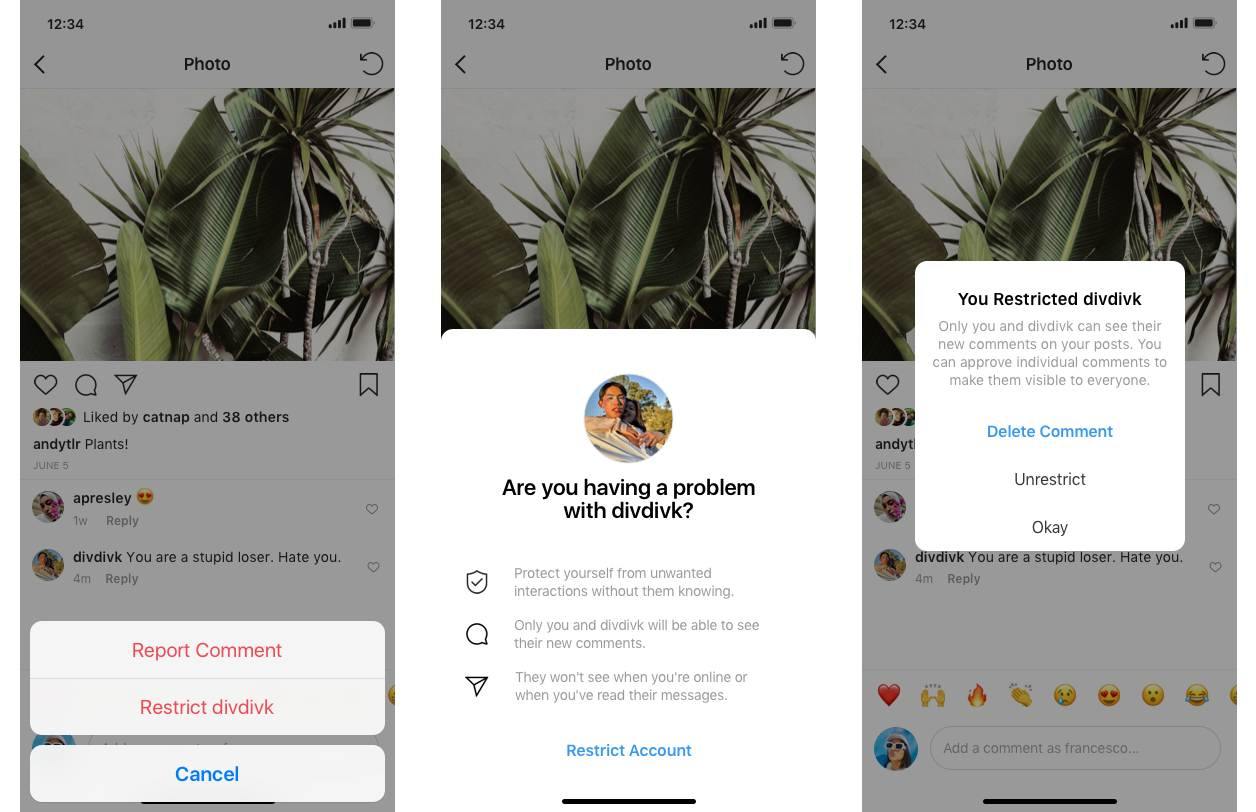 Instagram will soon start testing the Restrict feature.