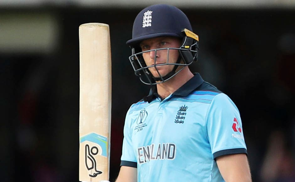 England's Jos Buttler celebrates after scoring a fifty. He played a knock of 59 runs off 60 balls. AP