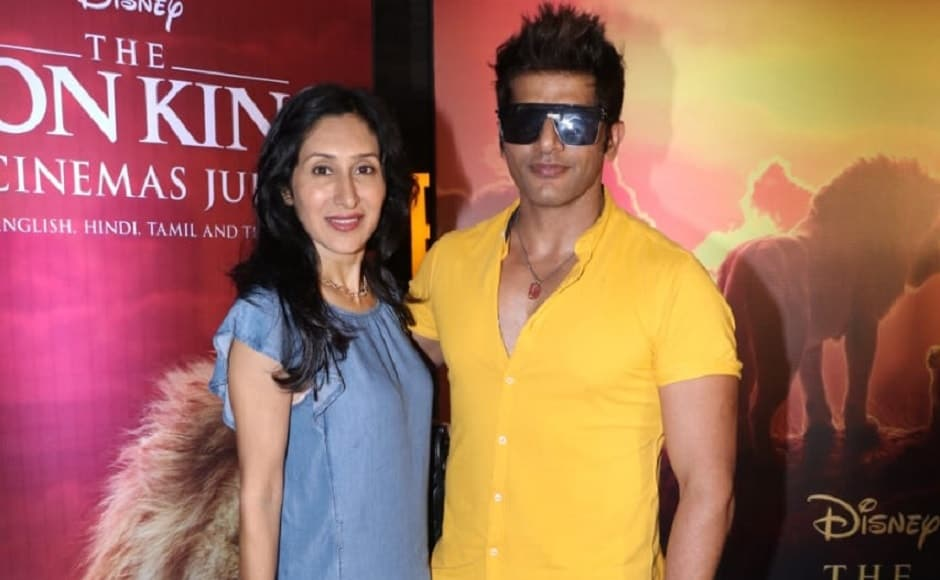Karanvir Bohra and  Teejay Sidhu arrived in casuals for the screening of The Lion King