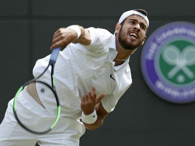 Wimbledon 2019: Persistent Karen Khachanov digs deep to overcome Feliciano Lopez in four sets, marches into third round