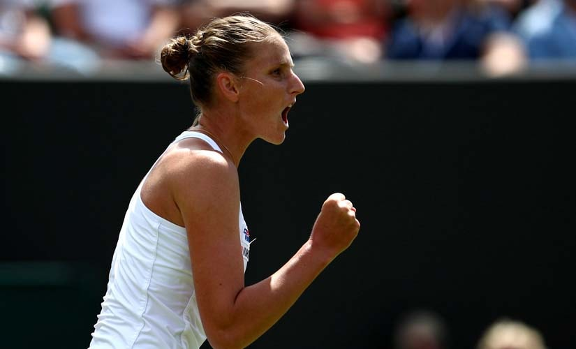 Karolina Pliskova in action at Wimbledon. Reuters