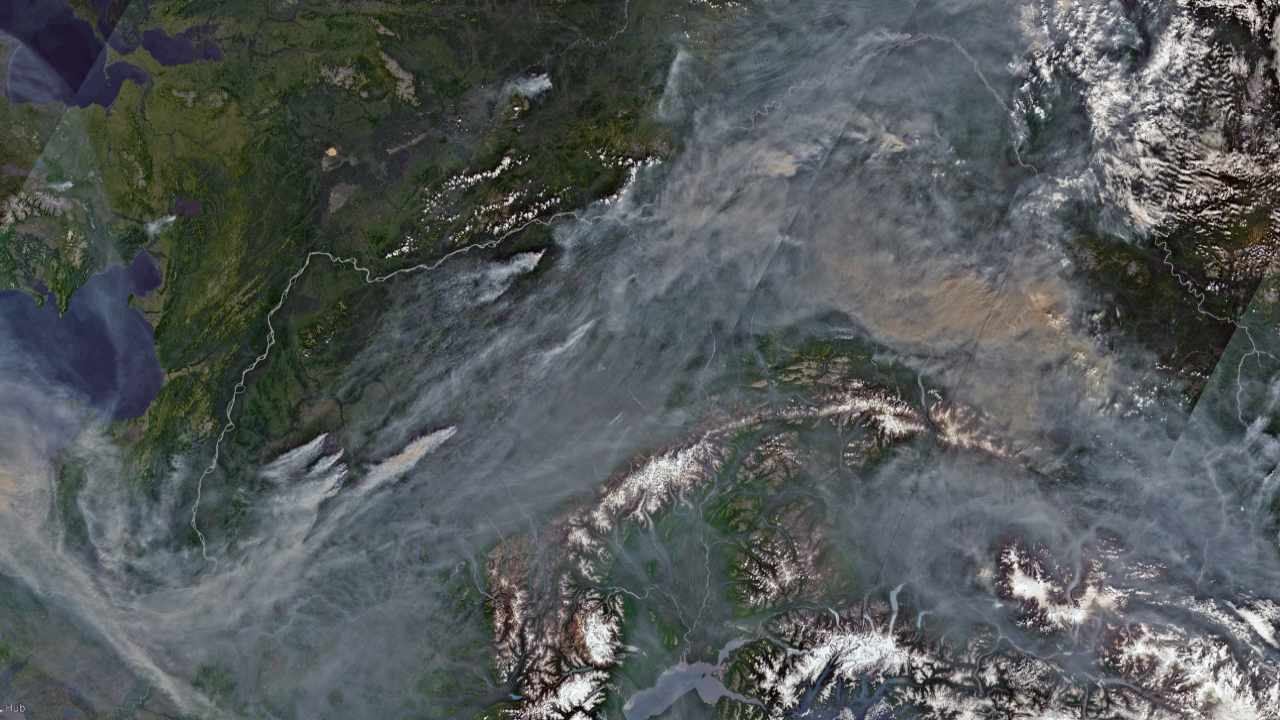 Sweeping stretches of Arctic forests are burning, 'unprecedented' satellite images show
