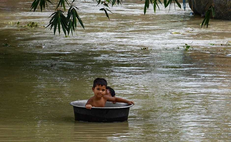 3,181 villages were under water and 87,607 hectares of crop areas had been damaged, while massive erosions have been witnessed at several places of Udalguri, Barpeta and Sonitpur districts. PTI