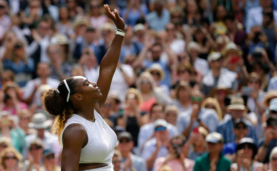 Serena Williams will play in the Wimbledon final for the 11th time and will be looking for her eighth title at the All England Club. AP