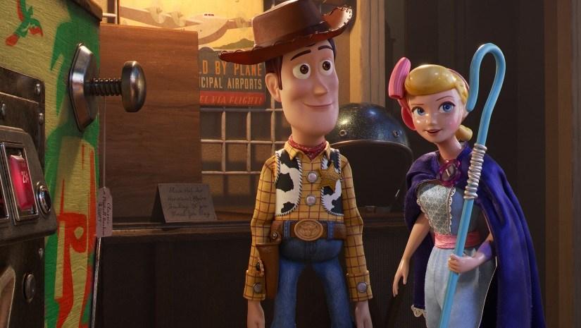 Tom Hanks as Woody and Annie Potts as Bo Peep in Toy Story 4 | Disney/Pixar