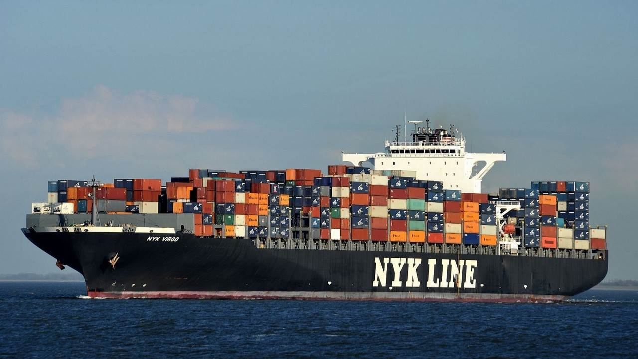 The NYK Virgo is a container ship owned by the Barlett Marine Corp.