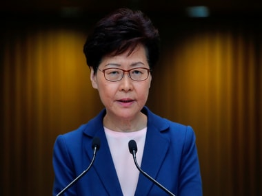Hong Kong's pro-Beijing chief exec Carrie Lam abandons policy speech after being heckled by Opposition lawmakers