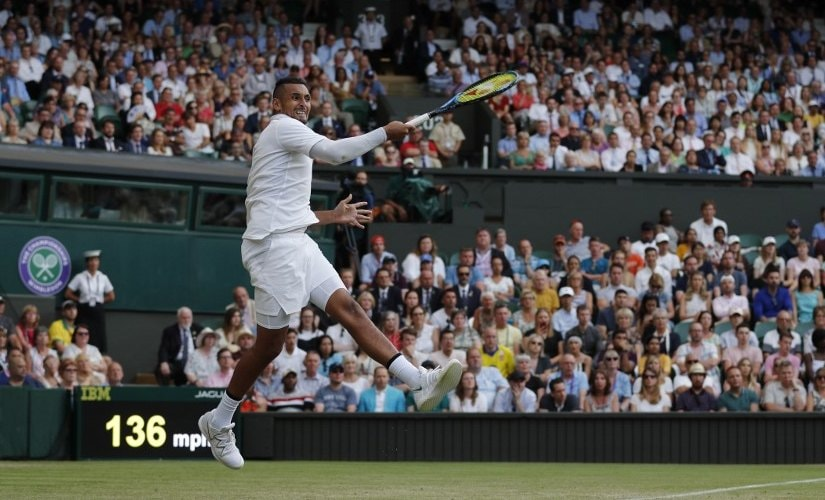 Kyrgios lost a well contested second-round match against Nadal in four sets. AFP