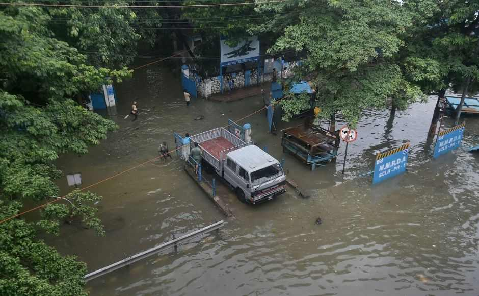 The authorities declared a holiday in Mumbai and adjoining regions, asking people to avoid stepping out of their houses. However, rains subsided in the afternoon in most areas. The BMC said six pumping stations discharged more than 14,000 million litres of water into the sea. PTI