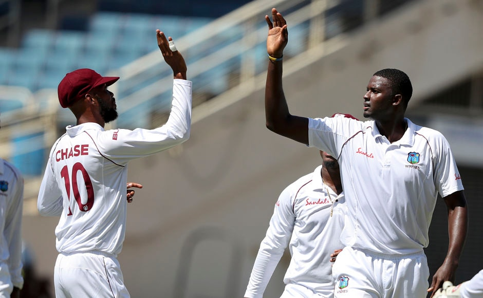 Jason Holder was in fine form on the opening day of the Test. After winning the toss and electing to bowl first,Holder took three wickets in his 20 overs. He provided the first breakthrough for his team, removing KL Rahul with a terrific delivery. AP