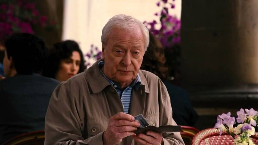 Michael Caine as Alfred in the Dark Knight trilogy
