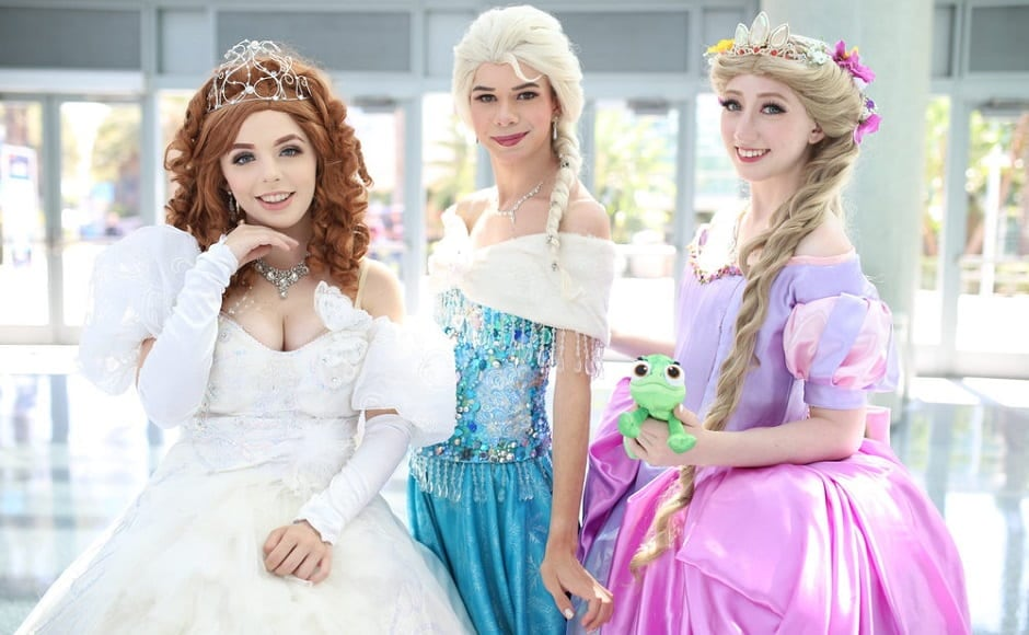 It was all about tiaras and flowy gowns at the Day 2 for cosplay- from Frozen's Elsa to Rapunzel | The Walt Disney Company