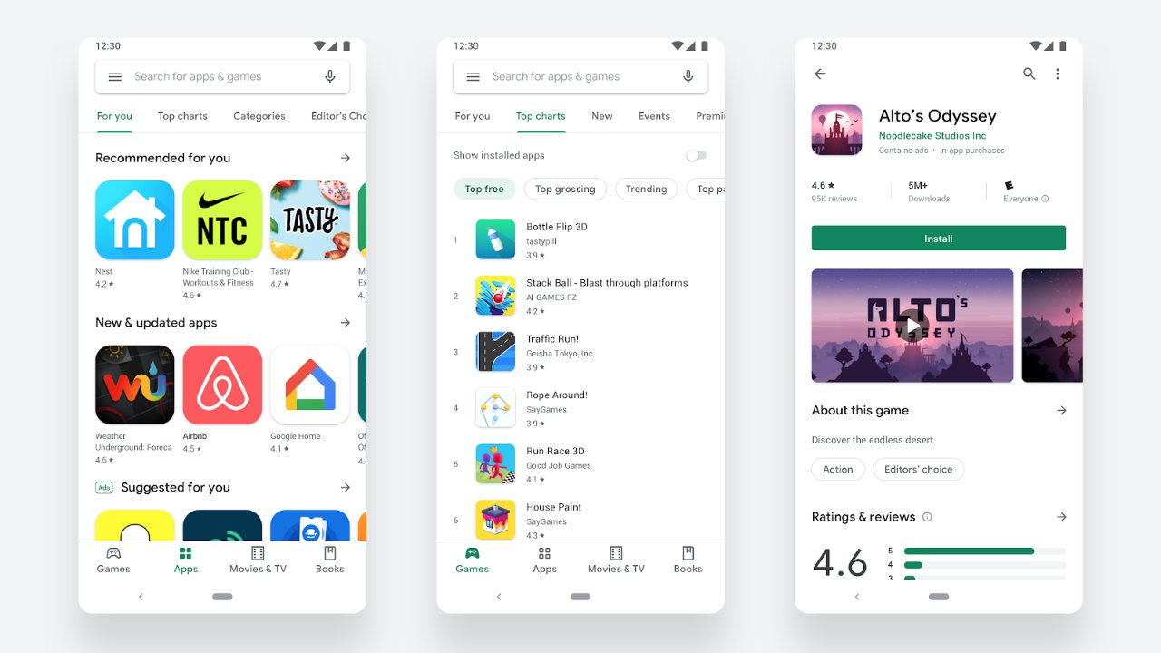 Google starts rolling out Play Store's cleaner redesigned Material theme- Technology News, Firstpost