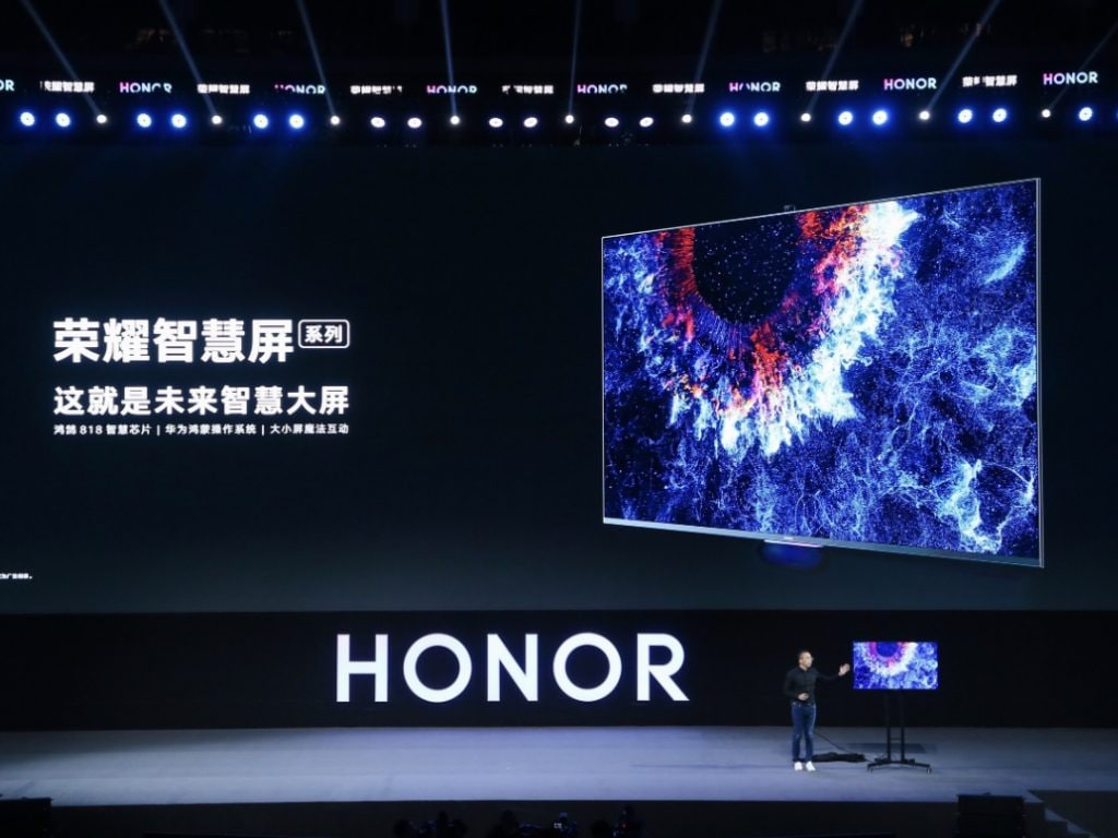Huawei launches the Honor Vision TV series that will be running on HarmonyOS