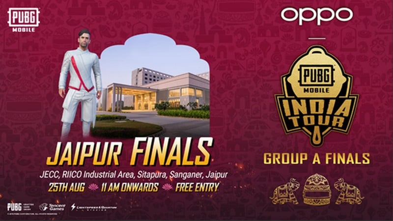 PUBG Mobile India Tour 2019 Jaipur finals to take place on 25 August
