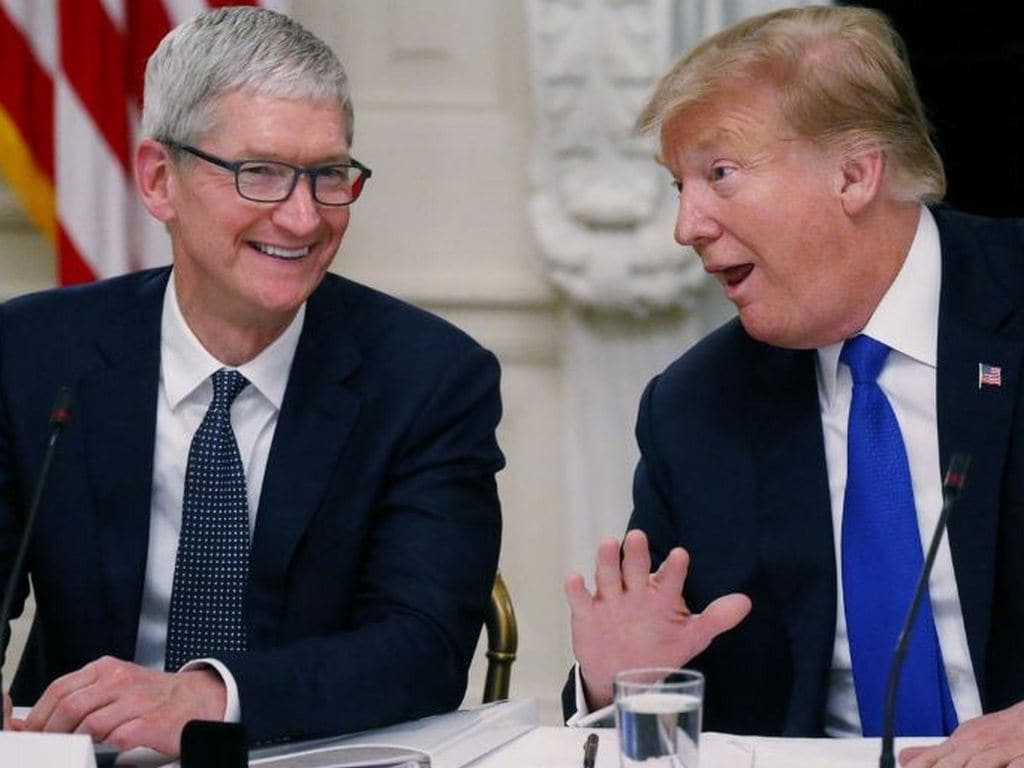 Apple CEO Tim Cook made 'very compelling argument' against tariffs, Trump says