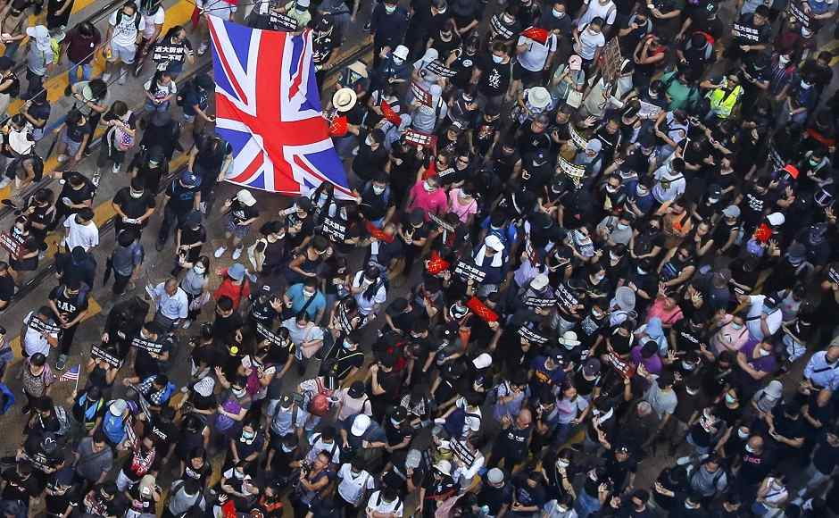 'UK save Hong Kong': Pro-democracy groups rally outside British consulate; police use tear gas, water cannons to quell violent protests