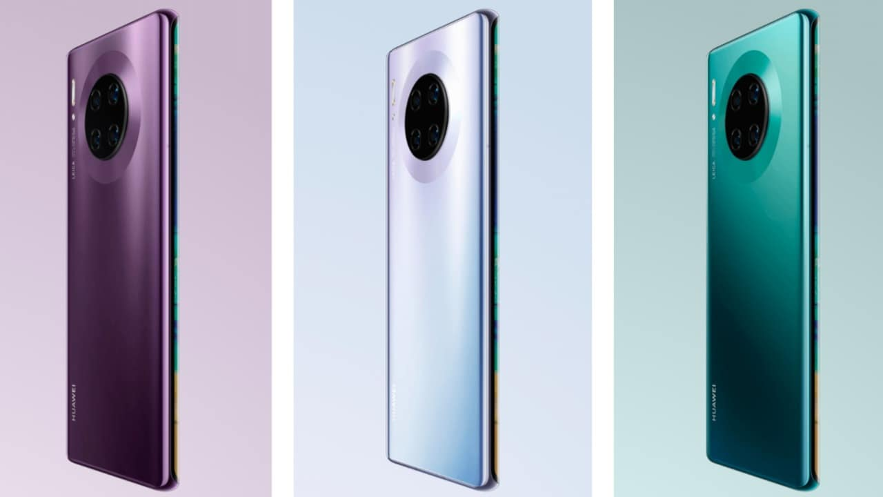 Huawei Mate 30 Pro. Image: Huawei