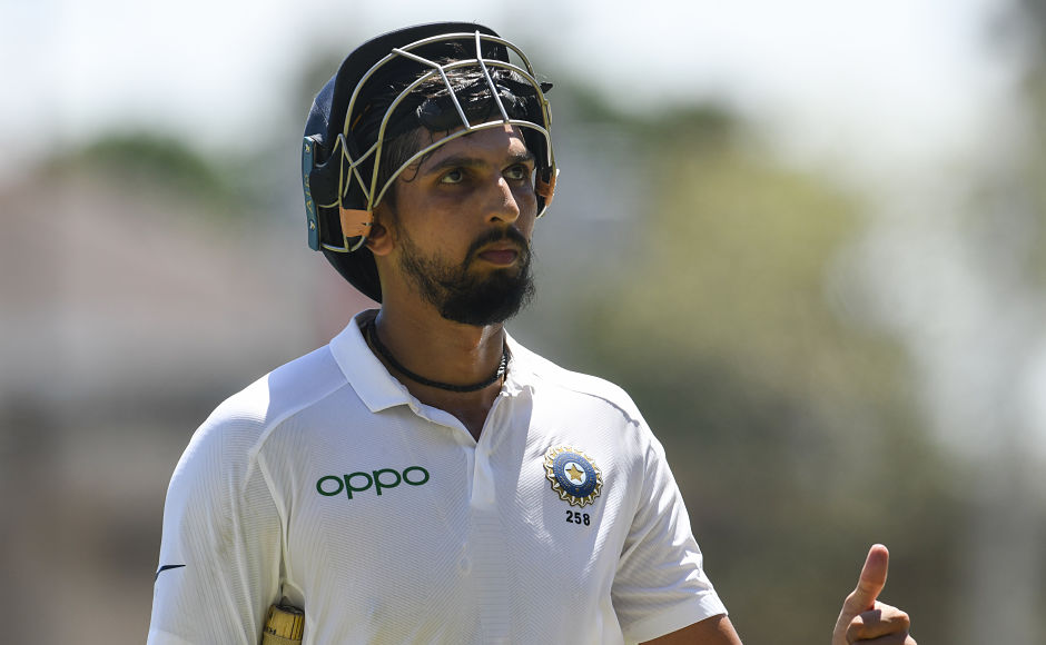 Ishant Sharma showed great resilience with the bat in hand. He faced 80 balls in the first innings to score 57 runs, in the process completing his maiden Test fifty. His presence played a huge role in helping Hanuma Vihari hit his first Test ton. AFP