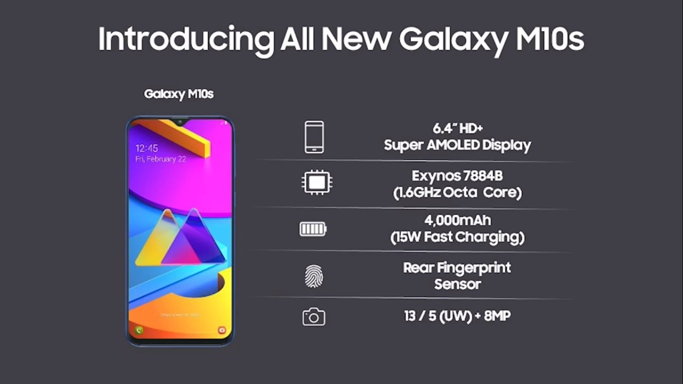 Samsung Galaxy M10s specifications.