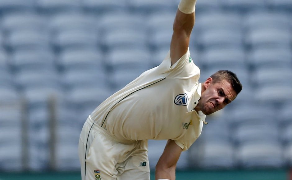 Anrich Nortje made his Test debut on Thursday, coming in place of Dane Piedt in the Proteas XI. AP