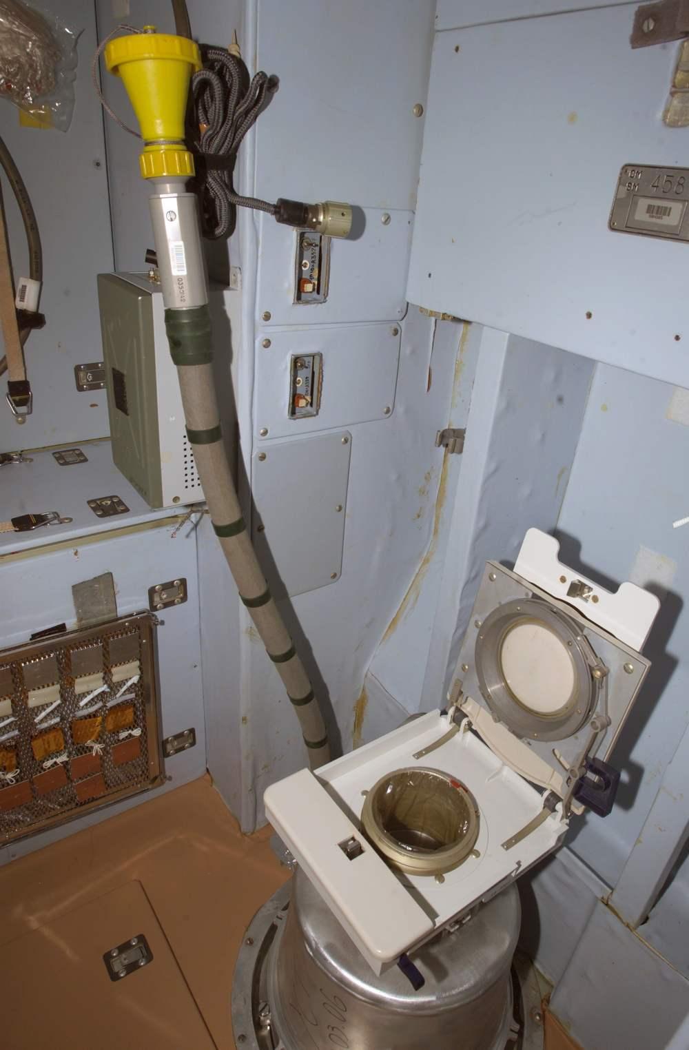 Toilet at the International Space Station. Image credit: NASA