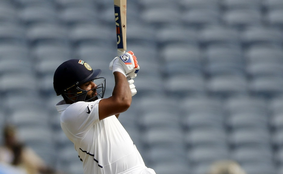 Rohit Sharma was dismissed early in the innings, falling for 14. AP