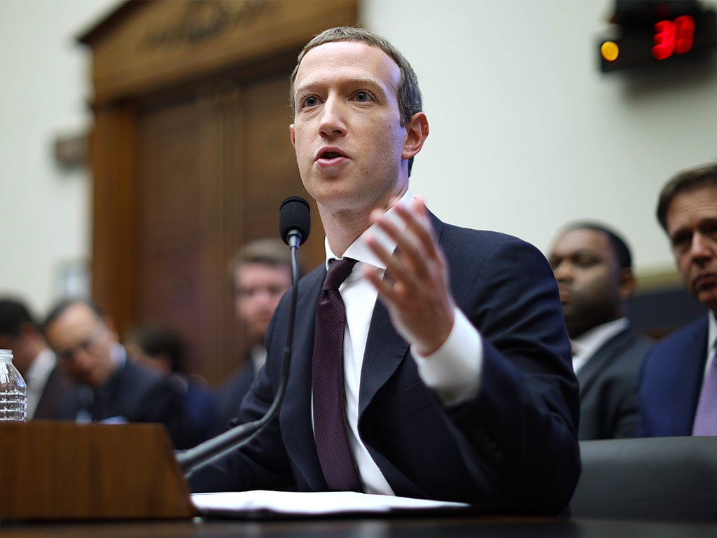Facebook CEO Mark Zuckerberg tried to convince US Congress that his company should be allowed to undermine the global financial system. Image: Getty
