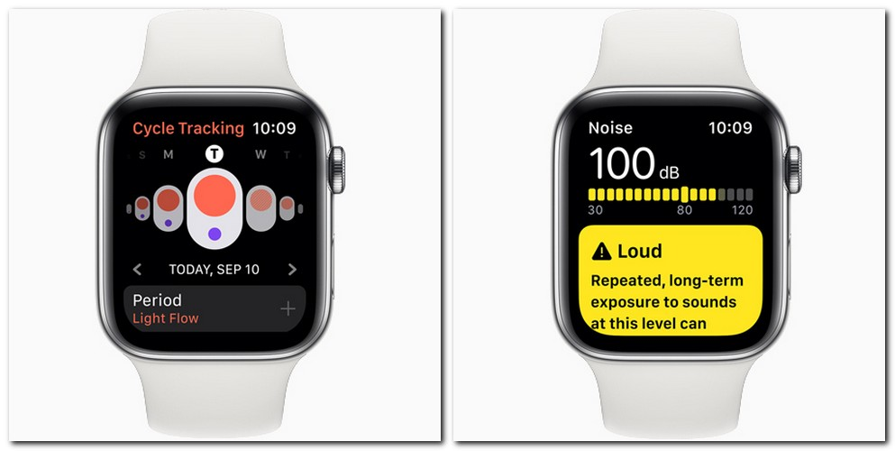 Some news apps such as Cycle Tracking and Noise have been added to the Watch Series 5