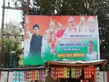 Posters in MP's Bhind feature Jyotiraditya Scindia, Narendra Modi, Amit Shah together, thank Cong leader for support on Article 370