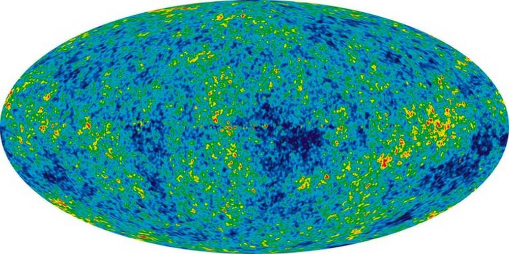 A map of the universe's cosmic microwave background radiation. image credit: NASA