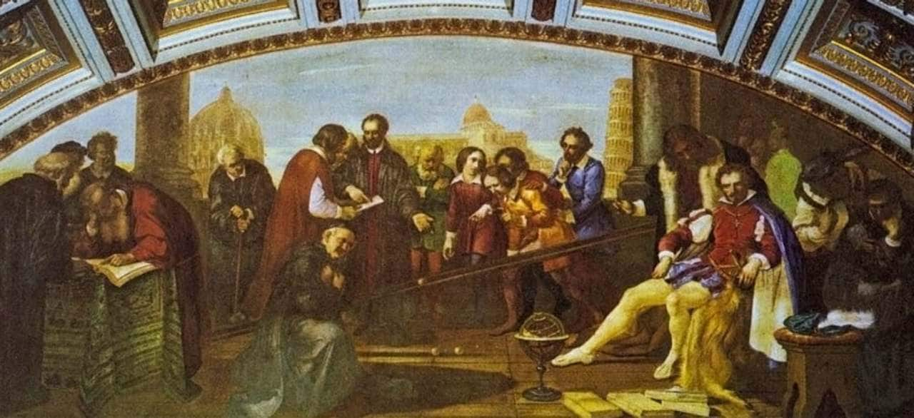 Galileo presents an experiment to a Medici patron.image credit: Giuseppe Bezzuoli