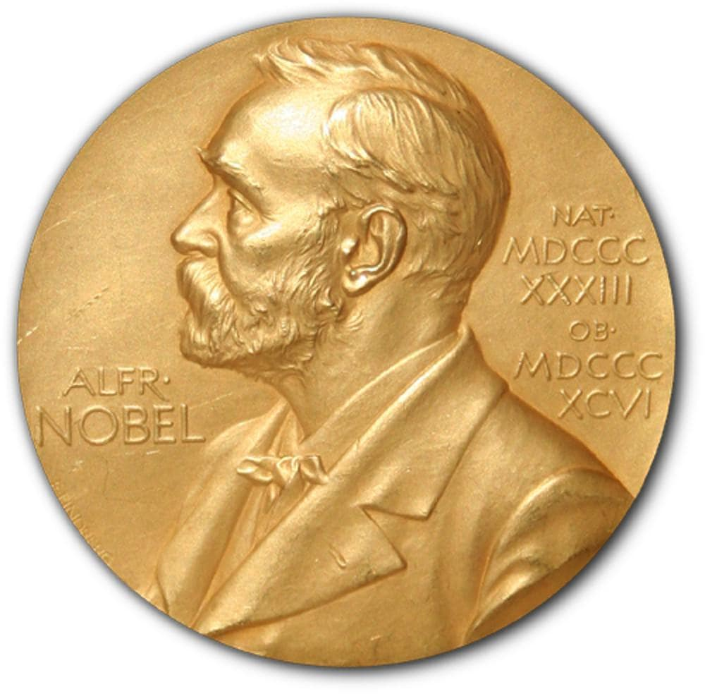 Swedish inventor Alfred Nobel's profile is on the medals awarded to the recipients of the prizes he established. image credit: Erik Lindberg