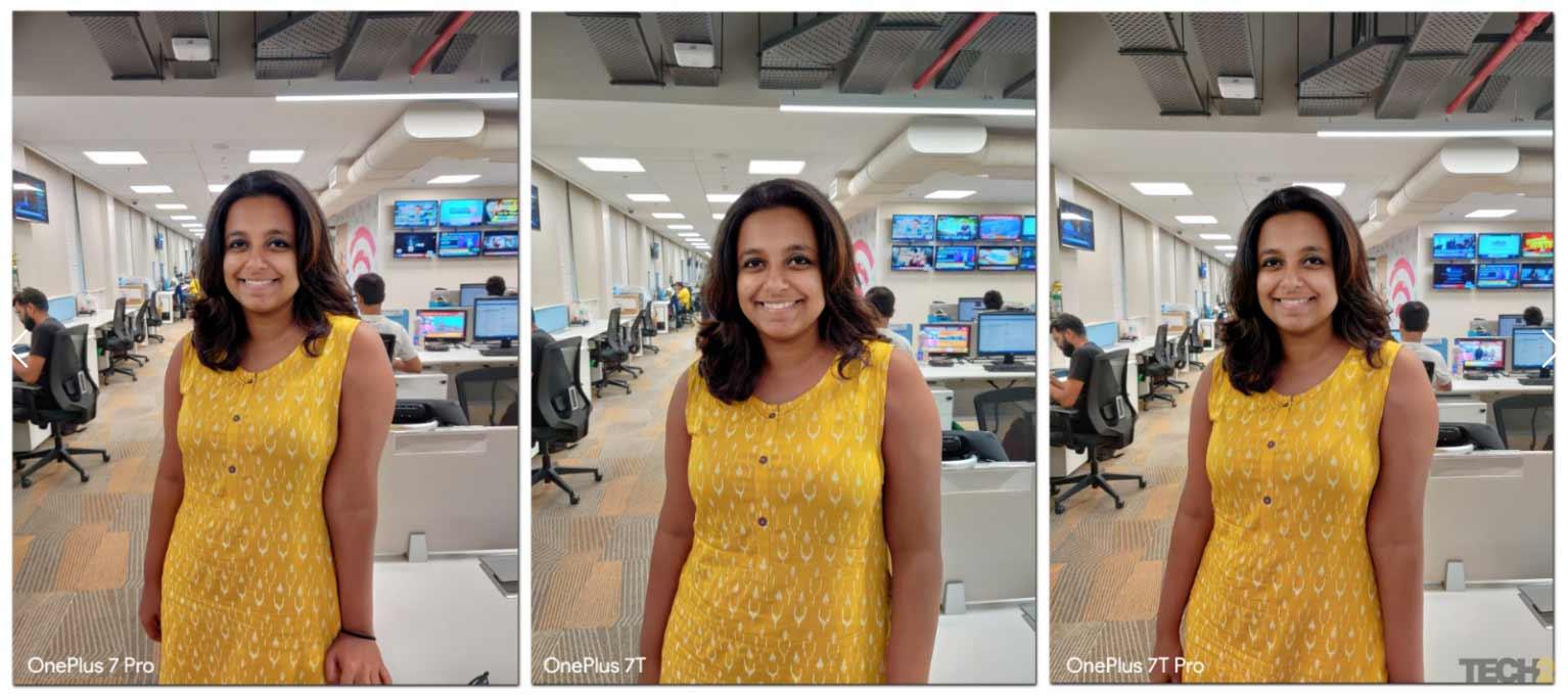 Portrait mode shots using three different devices. Image: tech2/Abhijit Dey.