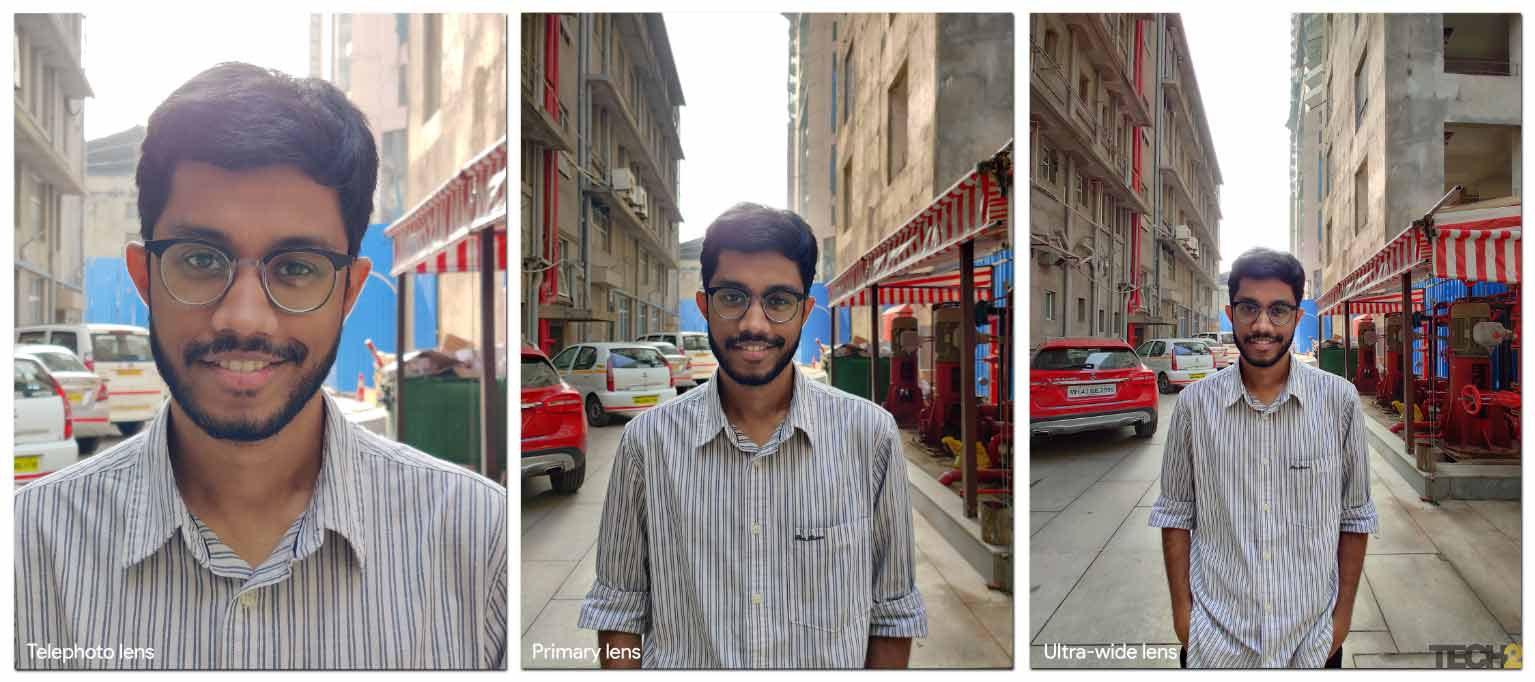 Pictures taken on the three different lenses. Image: tech2/Sheldo Pinto.