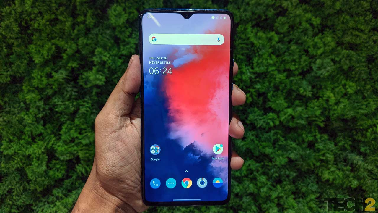 OxygenOS 10 comes out of the box on the OnePlus 7T. Image: tech2/Abhijit Dey.