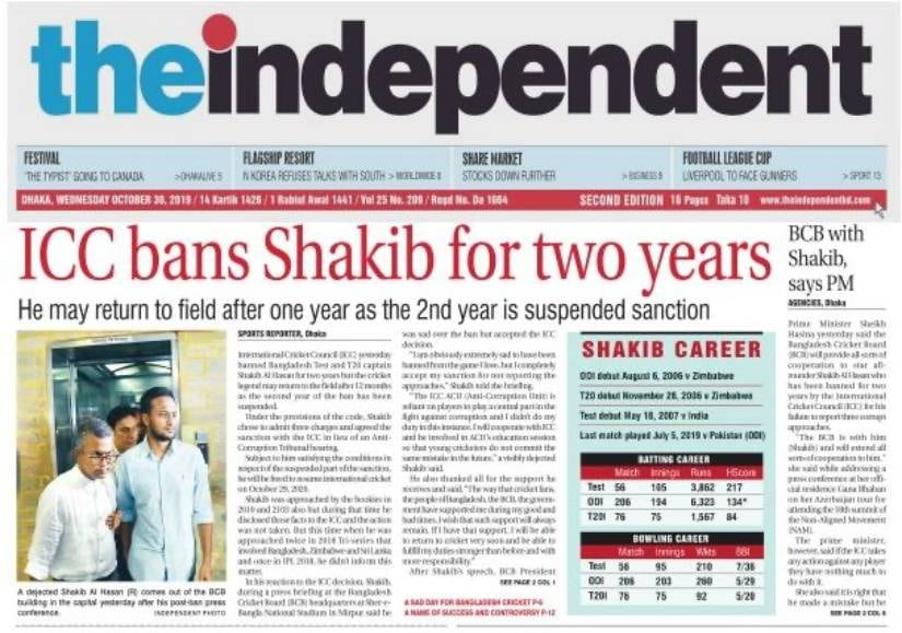 No one is greater than the game, cricketing fraternity reacts as Shakib Al Hasan receives two year ban from ICC