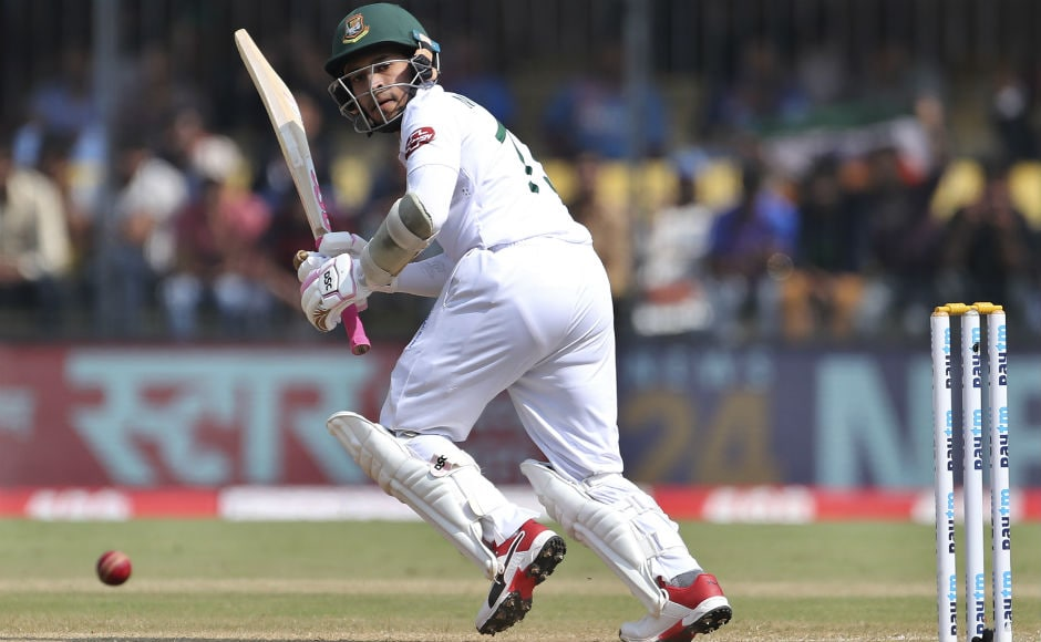 Mushfiqur Rahim, the lone warrior for the Bangladeshi batting line-up, couldn't convert his half century into a century as he was dismissed on 74 by Umesh Yadav. AP