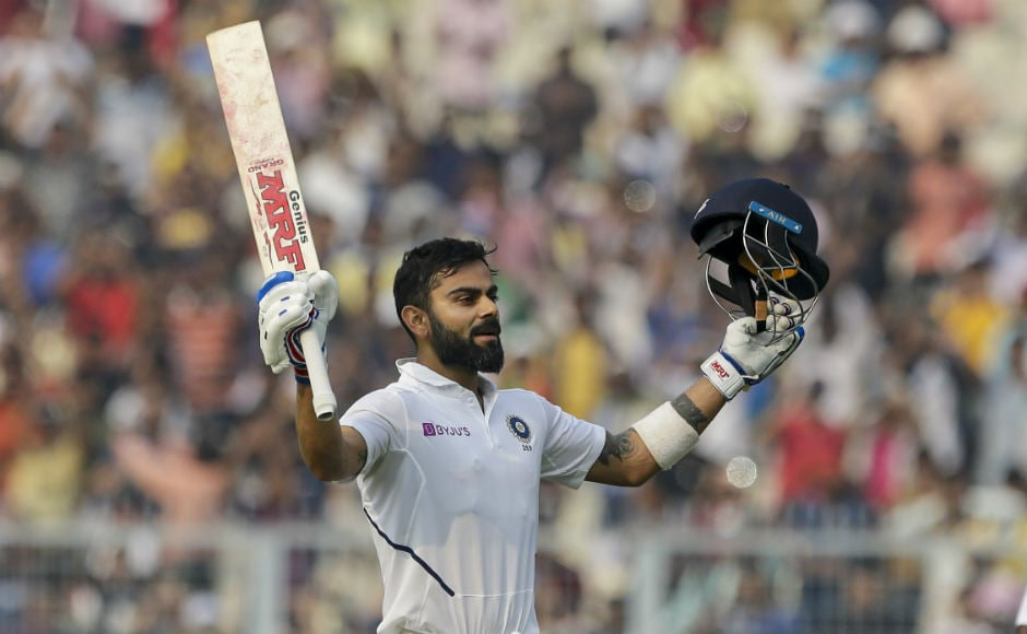 Indian skipper Virat Kohli aced the pink ball challenge as he brought up his 27th Test century against Bangladesh in the historic day-night Test at the Eden Gardens in Kolkata. The visitors trailed the hosts by 89 runs at the end of the second day's play. AP