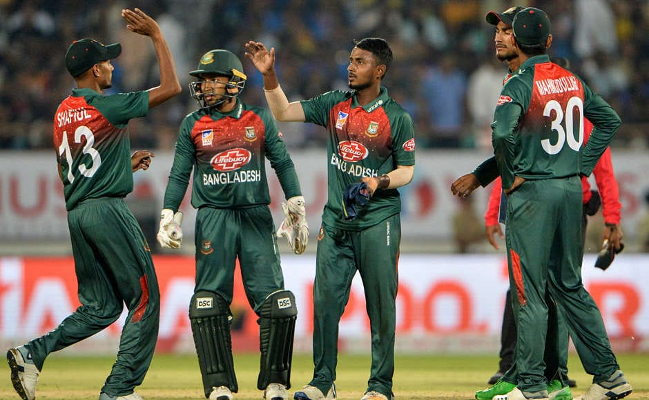 Aminul Islam's wicket of Shikhar Dhawan was more like a consolation for Bangladesh as the hosts needed just less than 30 runs to win after the dismissal. AFP